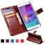 Samsung (All Model) Luxury Wallet PU Leather Coque Phone Bag With Stand