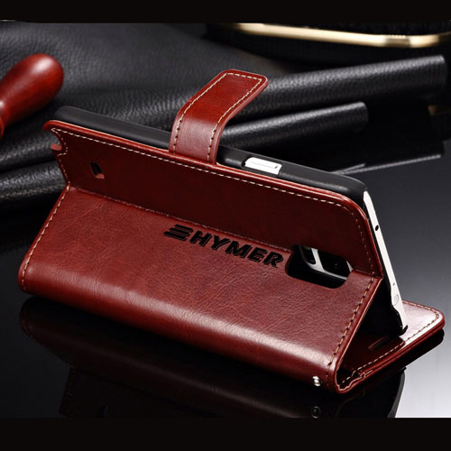 Samsung (All Model) Luxury Wallet PU Leather Coque Phone Bag With Stand Image 1