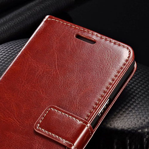 Samsung (All Model) Luxury Wallet PU Leather Coque Phone Bag With Stand Image 4