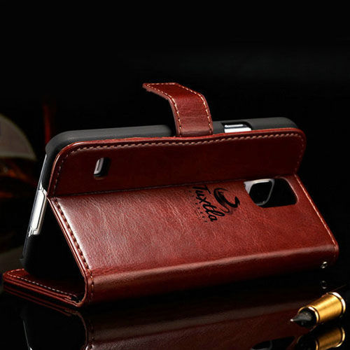 S5 Luxury Wallet Style PU Leather Case