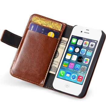 4S Vintage Phone Case With Card Holder Cellphone Cover