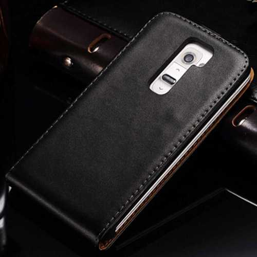 DHL Real Leather Flip Case Mobile Phone Back Cover