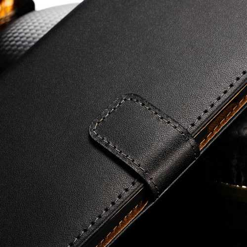 Book Style Stand Design Real Leather Case With Card Slot