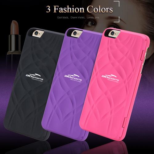 Leather Minion Design Makeup Mirror Mobile Phone Cases