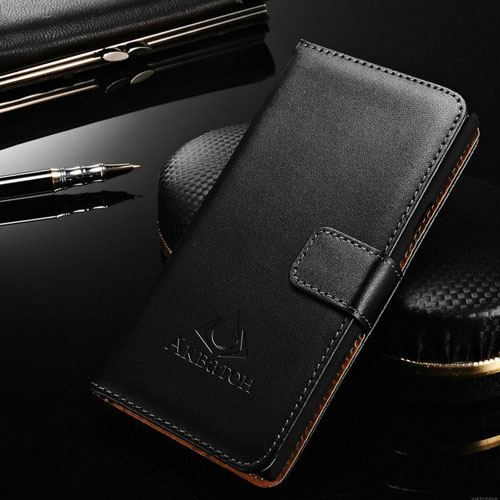 M4 Aqua Genuine Leather Wallet Stand Sleeve Flip Cover
