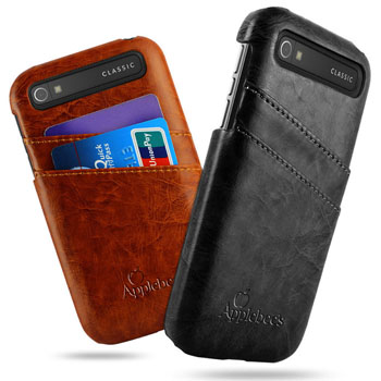 Unique Design Genuine Leather Card Slot Back Cover