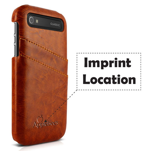 Unique Design Genuine Leather Card Slot Back Cover