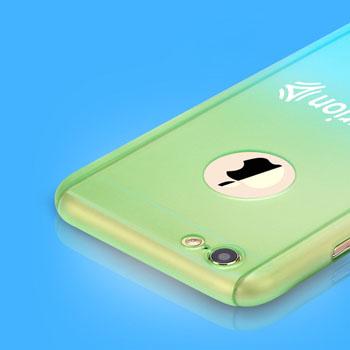 Gradient Macaron Tempered Glass Screen Phone Case