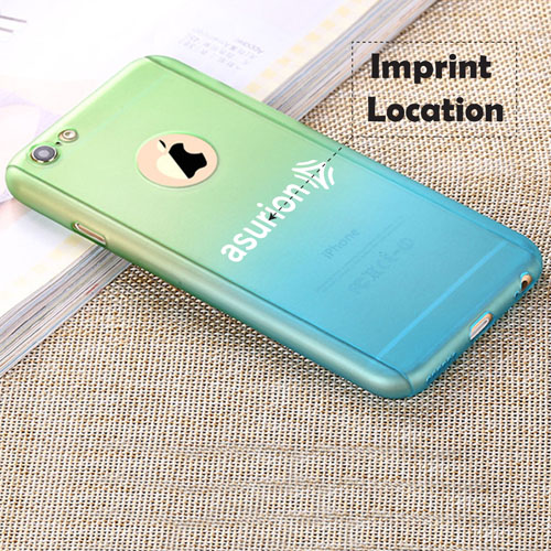 Gradient Macaron Tempered Glass Screen Phone Case