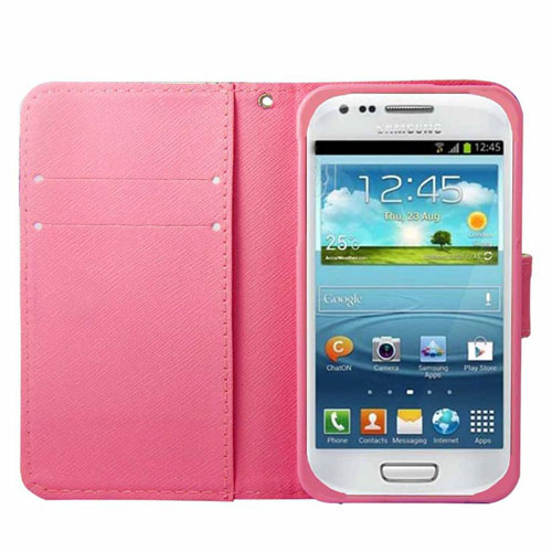 PU Leather Wallet Phone Filp Stand Case Cover Card Slot