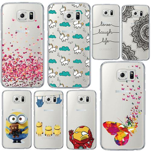 Samsung Fashion Heart Unicorn Iron man Soft Phone Case Cover