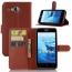 PU Leather Flip Card Slot 9 Color Litchi Texture Phone Cases