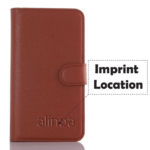 PU Leather Flip Card Slot 9 Color Litchi Texture Phone Cases