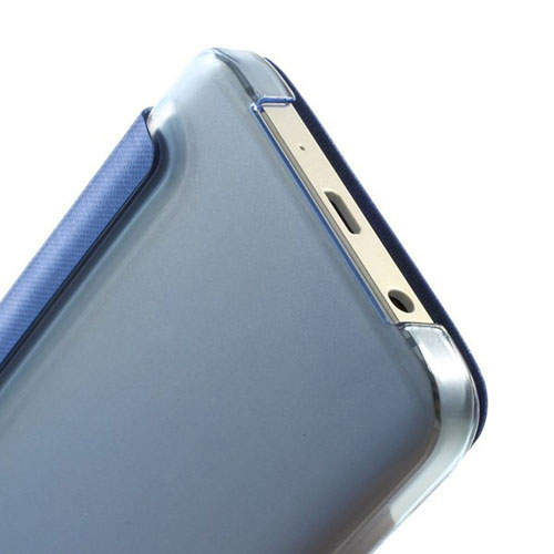 Window Folio Leather Cover Phone Case