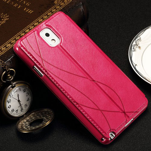 Stand View Window Style Vintage Flip Cover Case