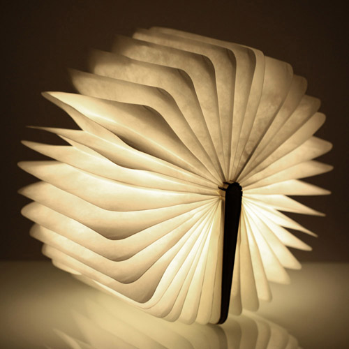 Rechargeable Home Decoration Folding Book Lights Image 1