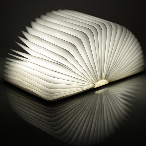 Rechargeable Home Decoration Folding Book Lights Image 3