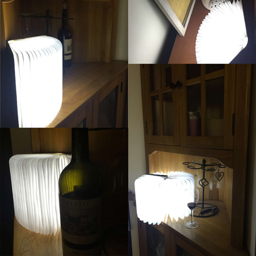 Rechargeable Home Decoration Folding Book Lights Image 4