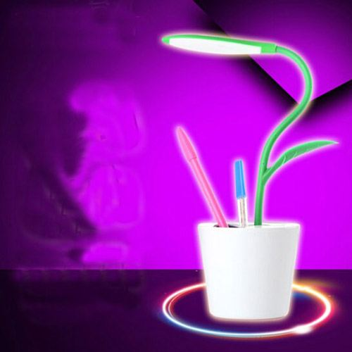 Energy Saving Pen Holder USB Rechargeable LED Table Lamp Image 2