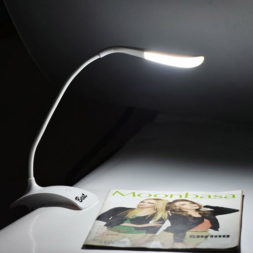 USB Powered Touch Sensor Clip-On Table Desk Lamp Image 4