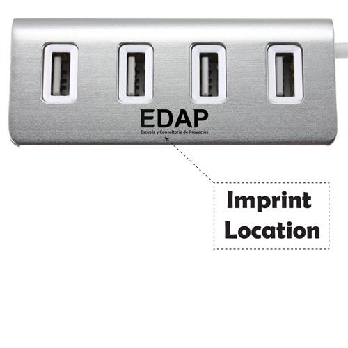 USB 2.0 Splitter 4 Port Adapter HUB Imprint Image