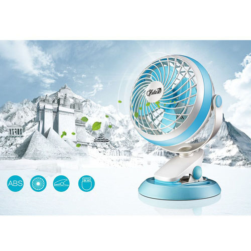 360 Rotation Mute USB Electrical Clamp Fan Image 1