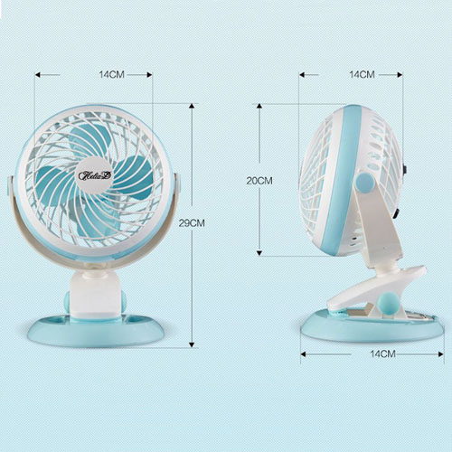 360 Rotation Mute USB Electrical Clamp Fan Image 2