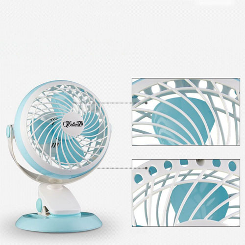 360 Rotation Mute USB Electrical Clamp Fan Image 3