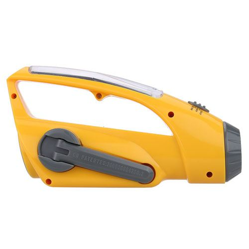 Emergency Portable Solar Power Crank With LED Flashlight Image 3