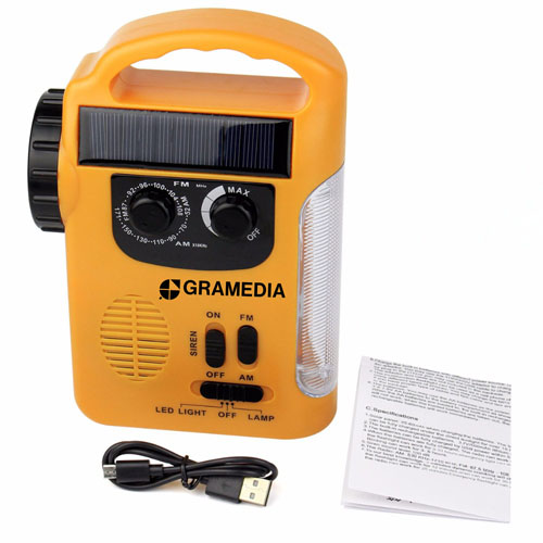 Solar LED Lantern With FM / AM Radio Image 4