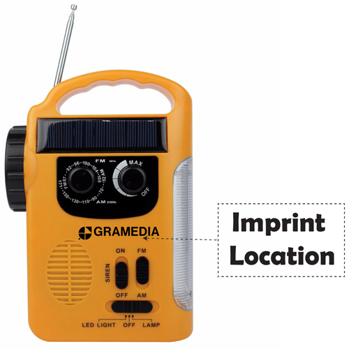 Solar LED Lantern With FM / AM Radio Imprint Image