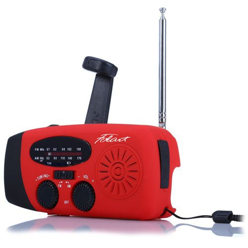Solar Handcrank Water-resistant Radio With 3 LED Image 1