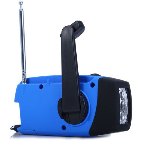 Solar Handcrank Water-resistant Radio With 3 LED Image 3