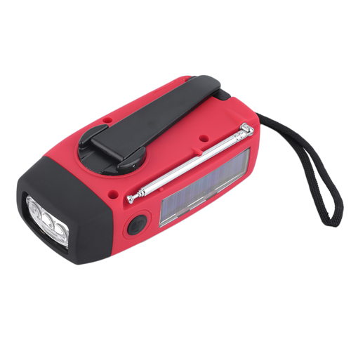 Solar Handcrank Self Powered Radio With 3 LED Image 2