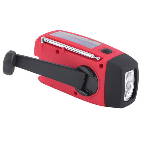 Solar Handcrank Self Powered Radio With 3 LED Image 3