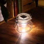 Solar Powered LED Transparent Glass Jar Waterproof Lamp
