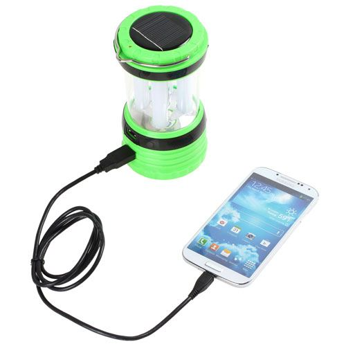 Solar Rechargeable LED Camping Lantern Light Image 1