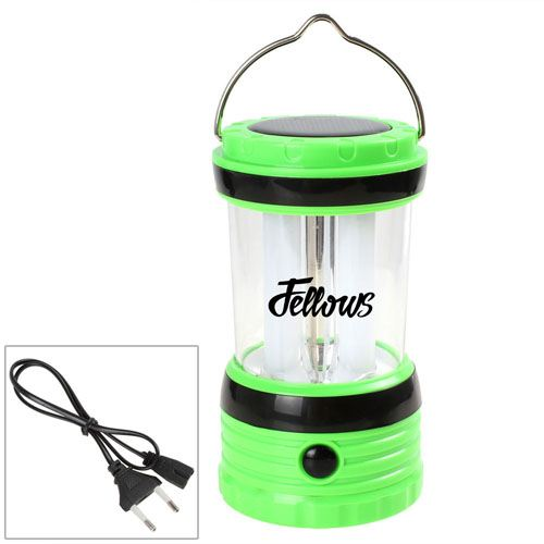 Solar Rechargeable LED Camping Lantern Light Image 5