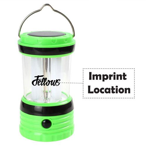 Solar Rechargeable LED Camping Lantern Light Imprint Image