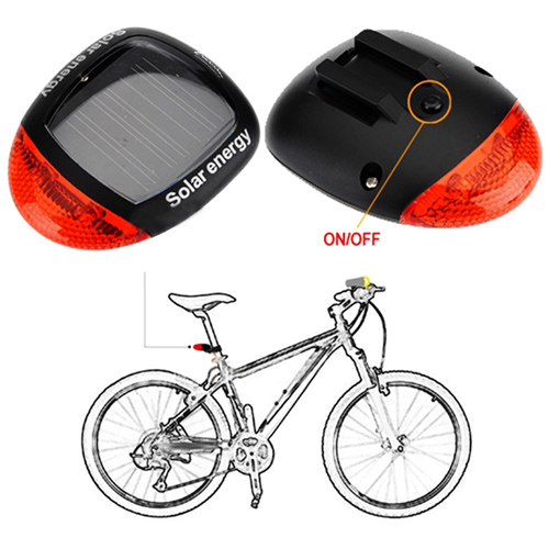 Solar Rear Rainproof Seatpost Bicycle Light Image 4
