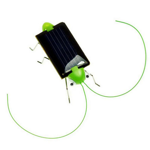 Solar Power Mini Grasshopper Toys For Children