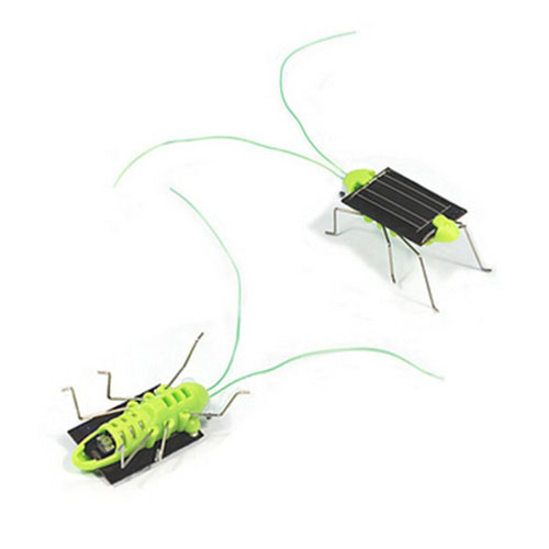 Solar Power Mini Grasshopper Toys For Children Image 1