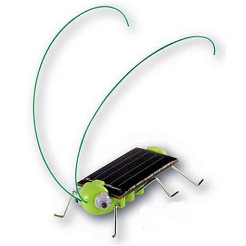 Solar Power Mini Grasshopper Toys For Children Image 3