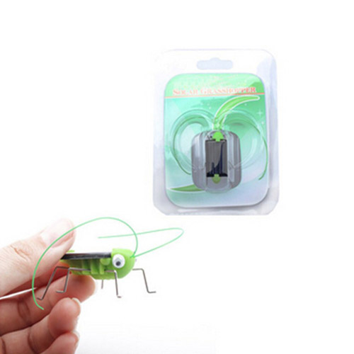 Solar Power Mini Grasshopper Toys For Children Image 4