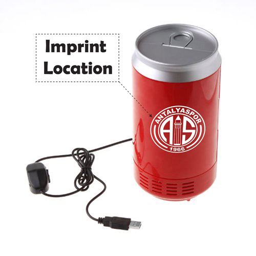 Mini USB Drink Cans Cooler And Warmer Imprint Image