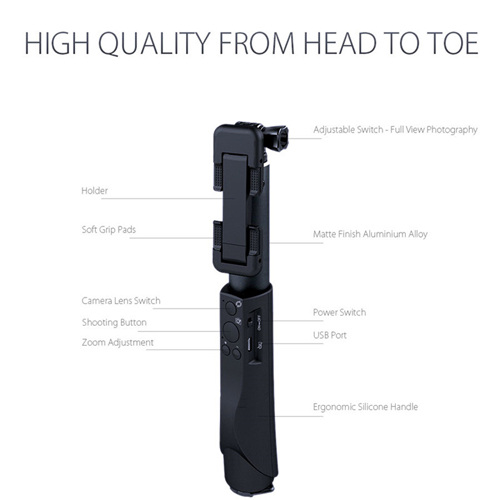Extendable Mini Universal Bluetooth Selfie Stick Image 1