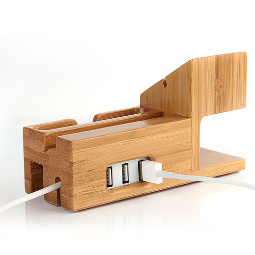 Bamboo Watch Mobile Phone Display Holder Image 5