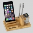 Natural Bamboo Wood Charger Stand Holder Image 3