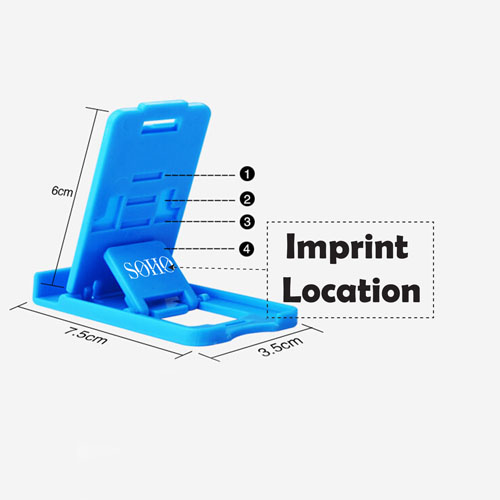 Adjustable Support Display Stand Phone Holder Imprint Image