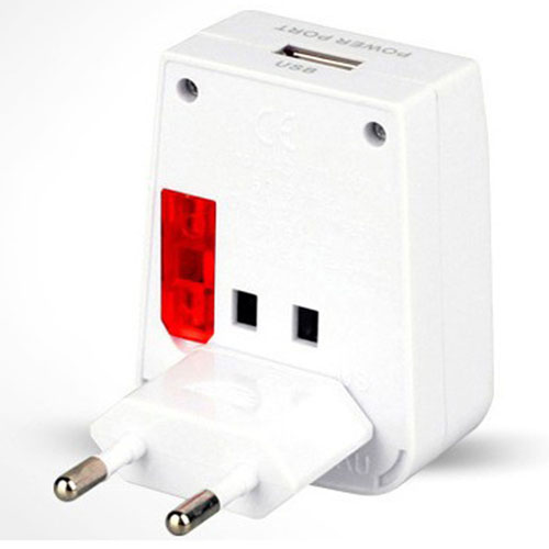 Travel Adapter USB Charger Converter Plug Image 1